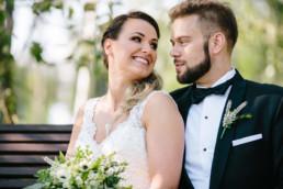 plener ślubny w dniu ślubu hotel groman
